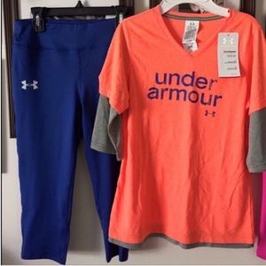NWT YLG (14/16) UNDER ARMOUR OUTFIT